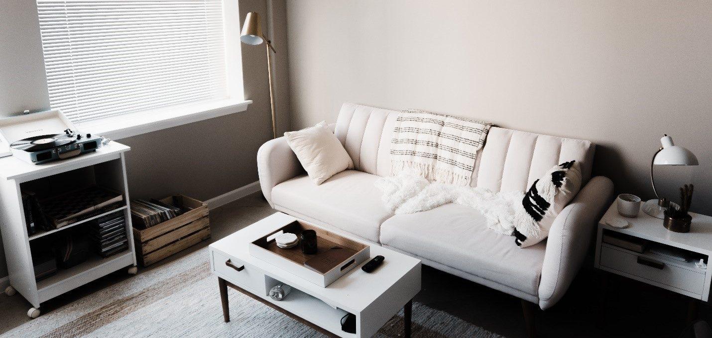 Bevidst indretning for et afslappet og fredfyldt hjemmemiljø